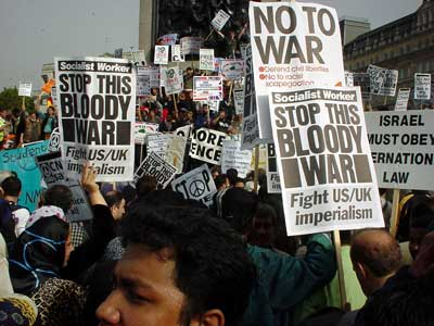October 13th 2001: Stop the War Demo Trafalgar Square
