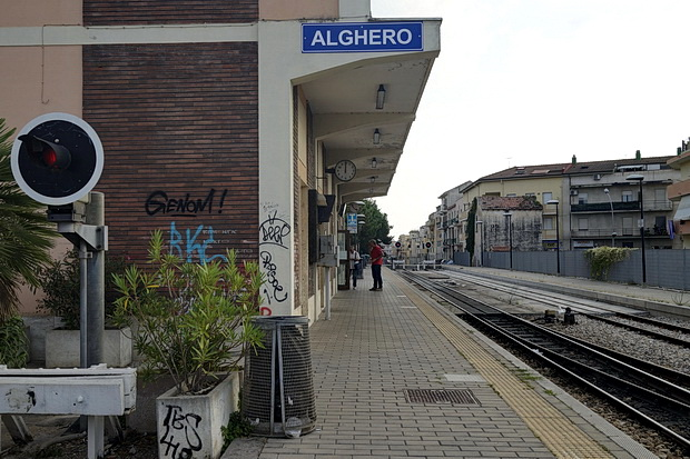 In photos: Alghero terminus railway station, Sardinia, Italy