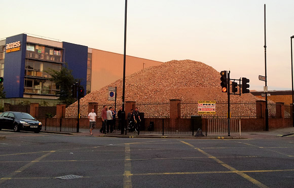 Almighty pile of bricks, Acre Lane/Kings Avenue, SW2