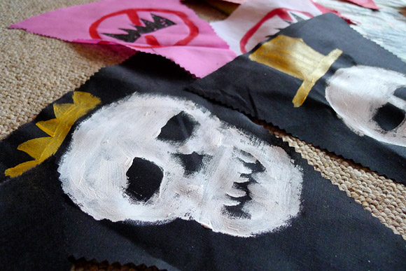Anarchist bunting takes shape at the Brixton Frontline of Buntline