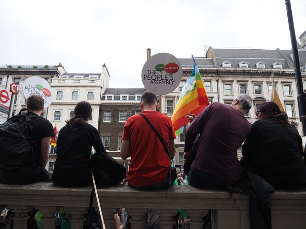 Sat 20th June: Anti Austerity march and rally in Parliament Square, London - in photos