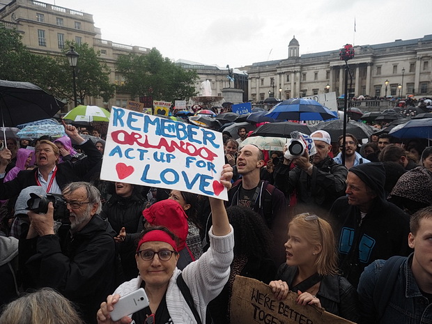 Thousands join anti-Brexit demo in rain drenched Trafalgar Square, London - photo report, Tuesday, 28th June 2016