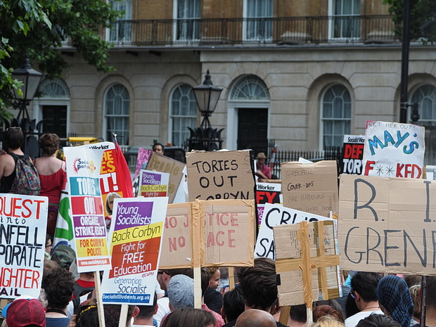 Protest photos: No Coalition of Chaos with the DUP, London demo. Sat 17th June 2017