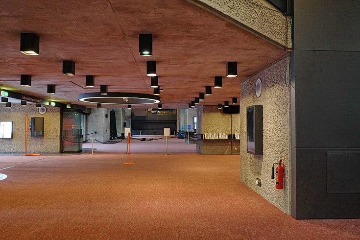 Empty floors, open spaces and unused stairs: a look around a deserted Barbican Centre - in photos
