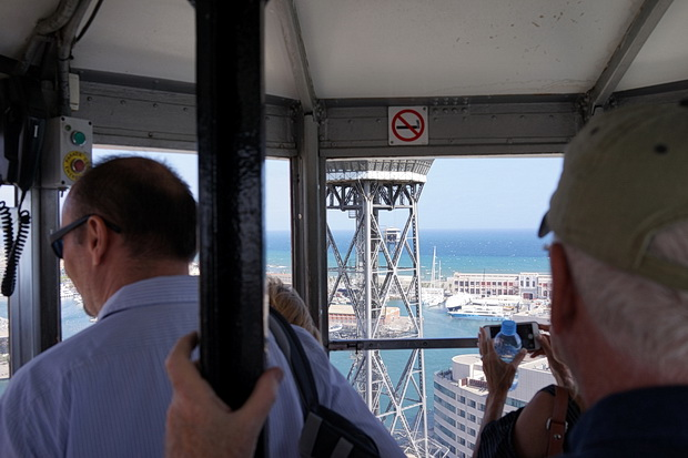 In photos: A cable car trip across Barcelona's old harbour from Mount Montjuïc to Barcelona Beach