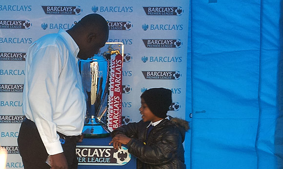 Premier League trophy comes to Brixton with Barclays Bank relaunch
