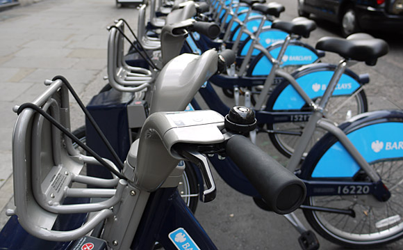 Loving the London TFL/Barclays cycle hire scheme
