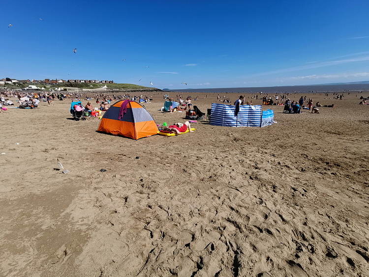 Hundreds travel to Barry Island as the Welsh lockdown eases, Weds 22nd July 2020