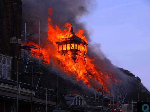 Major fire at Battersea Arts Centre in photos, Friday 13th March 2015