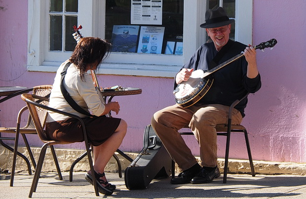 Street musicians of Beacon, Dutchess County, New York, Summer 2014