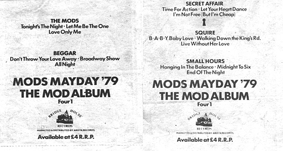 Beggar on Mods Mayday 79 - another blast from my past