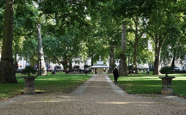 In photos: Berkeley Square and The Four Loves sculpture by Lorenzo Quinn, london