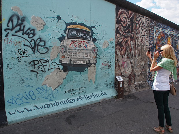 Photos of graffiti and artwork on the Berlin Wall, Berlin, Germany