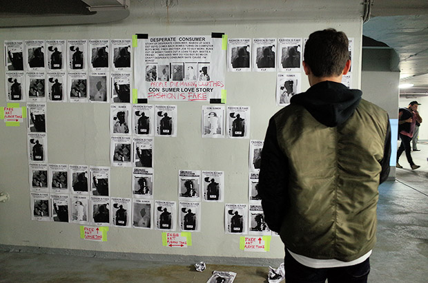 Big Deal Number 5 art show at the Cavendish Square underground car park, London W1G 0PN
