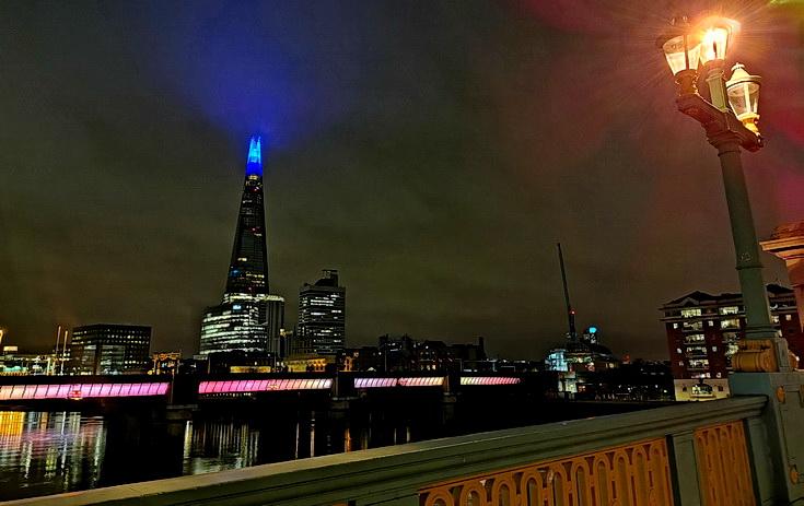 In photos: a midnight bike ride through central London in lockdown, Jan 2021