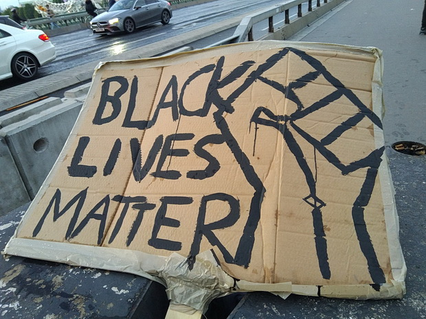 Black Lives Matter - banners from the London protest, 6th June 2020