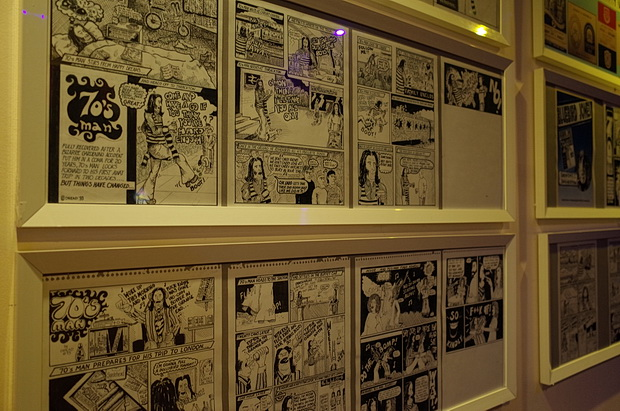 Football comic art at Cardiff's Andrew Buchan bar - exhibition runs till Feb 2016, Albany Road, Cardiff, south Wales
