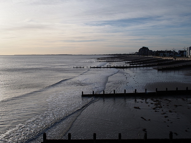 Bognor Regis, East Sussex - street shots, Terry's donuts and the run-down pier, November 2015