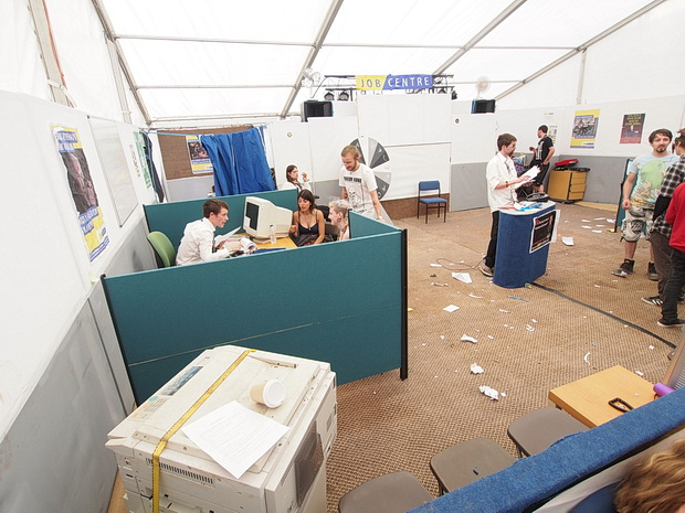 The Job Centre at Boomtown Fair 2015, Winchester, England, August 2015
