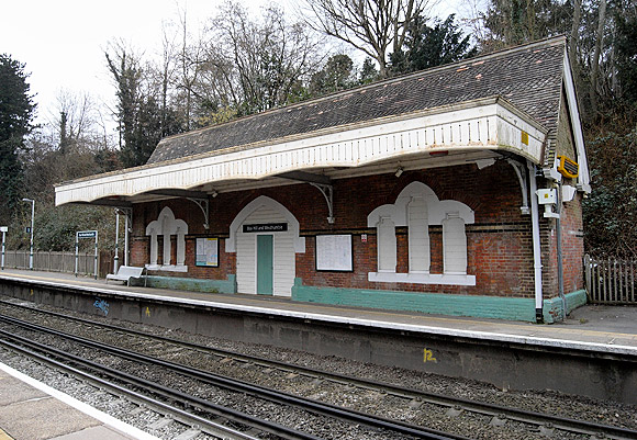 The châteauesque glory of Box Hill railway station