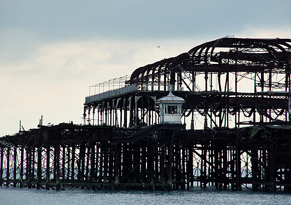 Remembering the West Pier, Brighton, Feb 2004 photo