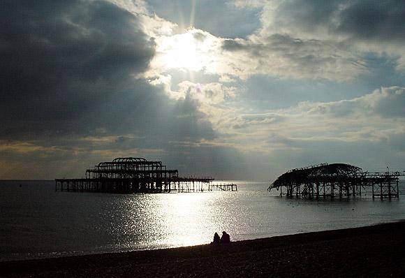 Remembering the West Pier, Brighton, Feb 2004 photo