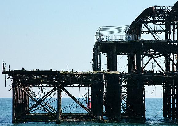 Remembering the West Pier, Brighton, June 2006 photo