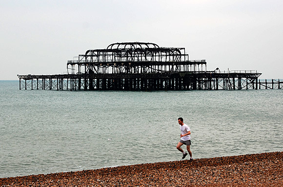 Remembering the West Pier, Brighton, December 2006 photo