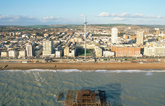 Remembering the West Pier, Brighton - the future i360 tower