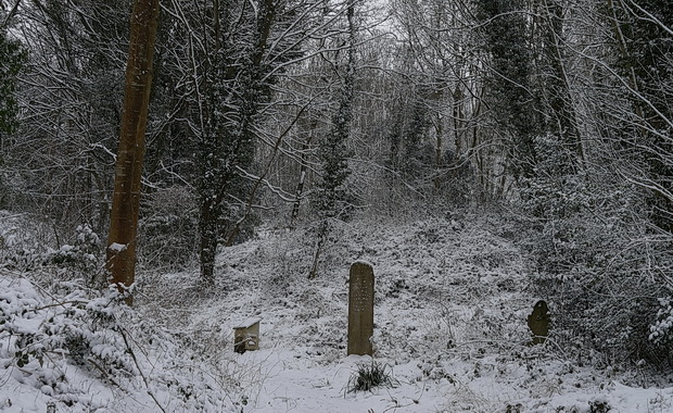 Bristol's beautiful Arnos Vale cemetery in the snow