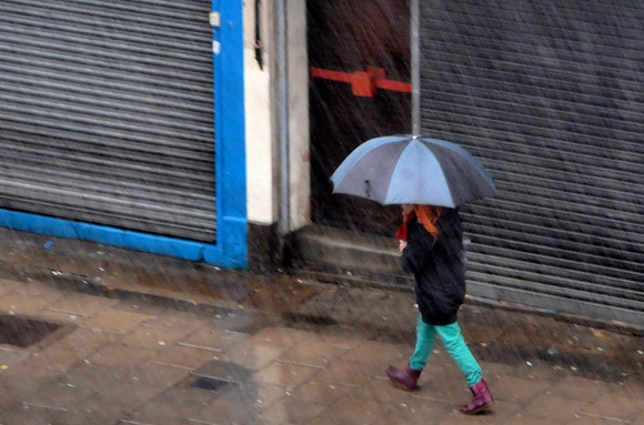 Brixton battered by winter storms of rain and sleet