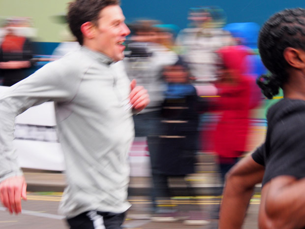 Brixton Bolt 100m race in Popes Road, Brixton, Lambeth, London, Saturday 28th October 2012