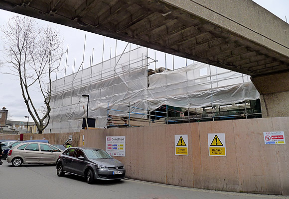 Brixton Car Park comes tumbling down