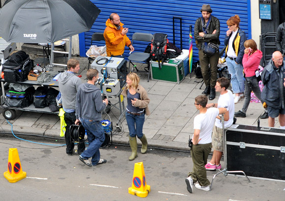 Brixton awash with media luvvies as film crews invade