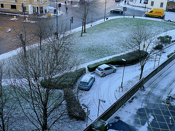 Brixton gets a dusting of snow