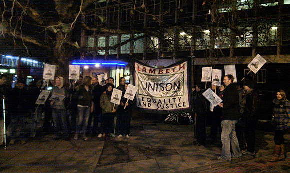Brixton Kettle The Met protest outside Brixton Police Station