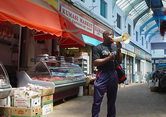 Brixton preachers: the market preacher