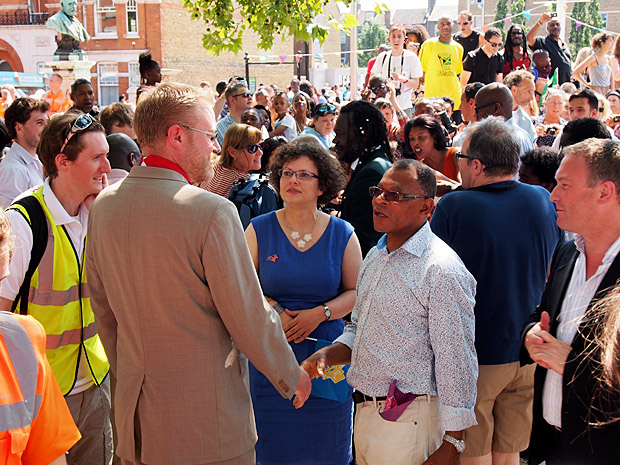 The Olympic torch comes to Brixton, Thursday, 26th July 2012