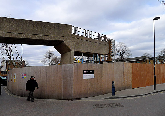 Brixton Pope's Road car park - nearly gone!