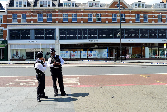 Brixton riots aftermath - photos