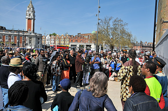 Brixton uprising event, Windrush Square, Sunday 10th April 2011
