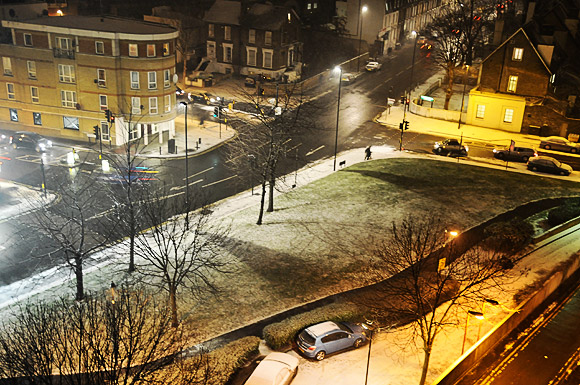 The first Brixton snow of 2012 - more to come?