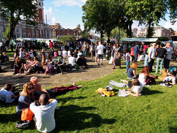 Brixton Splash in photos, central Brixton, London Sunday 5th August 2012