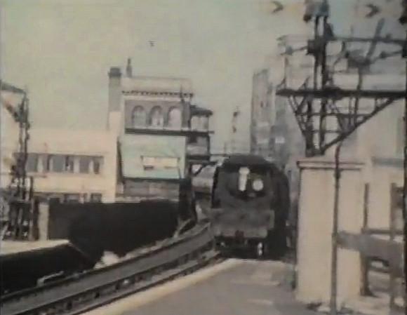 Brixton station in the steam era (1950s footage)