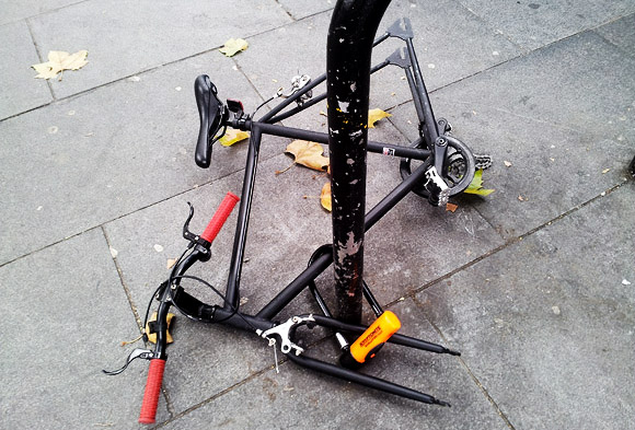 Here's what happens when you don't lock your bike properly outside Brixton tube