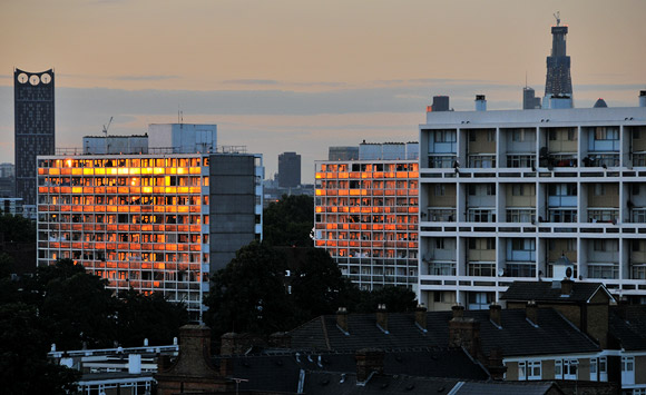 A summer's sunset in downtown Brixton