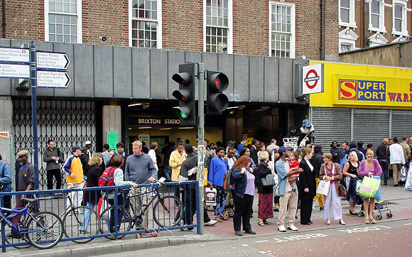 Brixton tube station back in the day - Travelcard hustlers and Special Brew cheerleaders