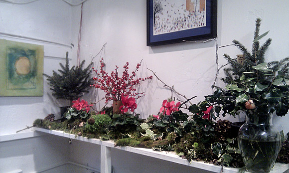 Brixton Vilage: Christmas trees and herring shots