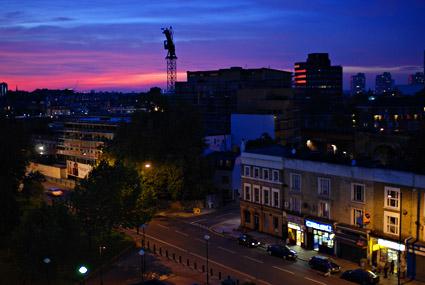 Brixton sunset, Nikon D80