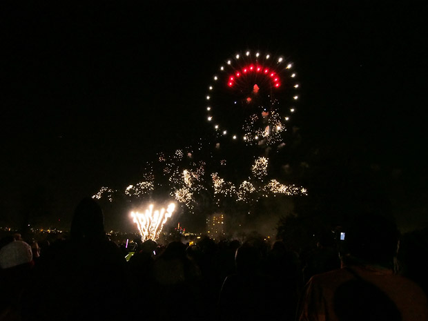 Brockwell Park fireworks display 2012, Herne Hill near Brixton, Lambeth, south London 2nd November 2012
